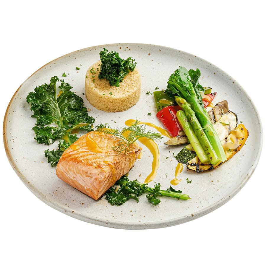 Salmon Steak Couscous